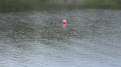 buoy in the river - stock footage