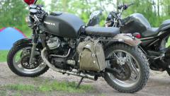 Scrambler Motorcycle 02 Stock Footage