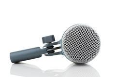 bass drum microphone - stock photo
