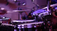 Musician playing drums during concert Stock Footage