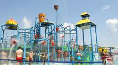 Aqua park fun Stock Footage