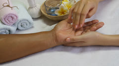 Aroma oil massage Stock Footage