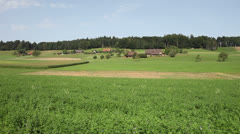 Green Swiss Farmland (HD Pan) - stock footage