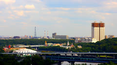 View from the observation deck Vorobyovy Gory Stock Footage
