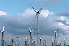 Wind-powered generators Stock Photos