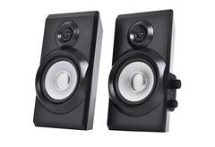 stereo speakers - stock photo