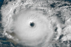 Hurricane Satellite View NTSC Stock Footage