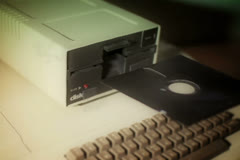 Old Floppy Disk Drive NTSC Stock Footage