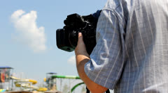 Camerman at work Stock Footage