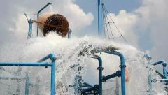 Splash in aqua park Stock Footage