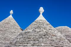 Rooftop of trulli Stock Photos
