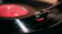 Stock Video Footage of Needle on a Record Player 01
