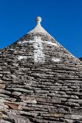 roof of a trullo - stock photo