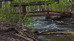 Upper Huron River Time Lapsed Stock Footage
