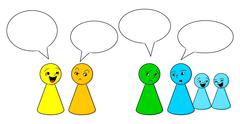 people gossiping - stock illustration