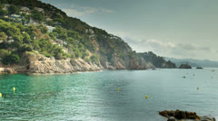 Beautiful bay on the spanish costa brava coast Stock Footage