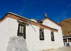 tashilhunpo monastery, tibet - stock photo