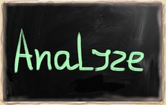 """analyze"" handwritten with chalk on a blackboard Stock Illustration"