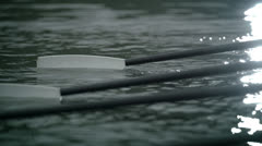 The oar into the water - stock footage