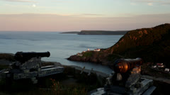 Signal Hill Canons During Sunset Stock Footage
