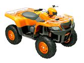 Stock Illustration of quad bike isolated