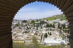 the albaicin neighborhood - stock photo