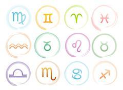 Horoscope signs set Stock Illustration