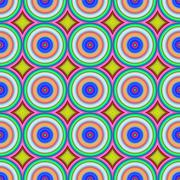 Multicolored circles seamless abstract pattern. Stock Illustration