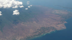 Flying over Indonesia islands Stock Footage