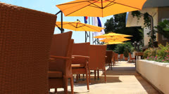 Empty terrace on summer day Stock Footage