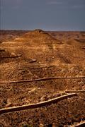 hill in matmata tunisia - stock photo