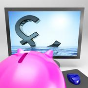Sinking pound shows downturn recession or disaster Stock Illustration