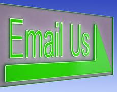 Email us button showing information provider Stock Illustration