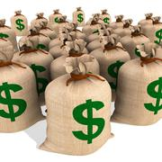 Bags of money showing american finances Stock Illustration