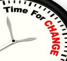 Stock Illustration of time for change meaning different strategy or vary