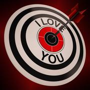 i love you shows valentines affection to lover - stock illustration