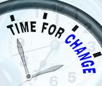 Stock Illustration of time for change means different strategy or vary