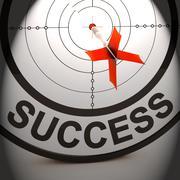 Success shows best financial achievement solution Stock Illustration