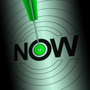 Stock Illustration of now shows urgency to react fast