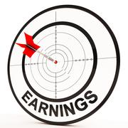 Earnings shows prosperity, career, revenue and income Stock Illustration