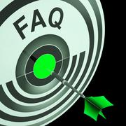 Faq shows frequently asked questions Stock Illustration