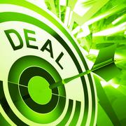 Deal means bargain or partnership agreement Stock Illustration