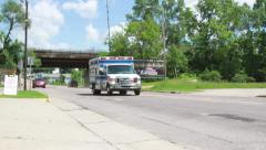 Ambulance Going to Call - stock footage