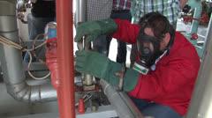 Ammonia Training Student NTSC Stock Footage