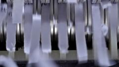 Paper shredder cuts documents. Stock Footage