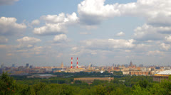 View from the observation deck Vorobyovy Gory panorama Stock Footage