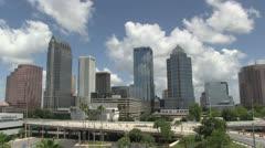 Tampa skyline Stock Footage