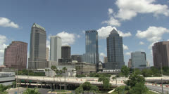 Tampa skyline - stock footage