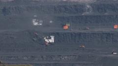 Open Cast Coal Mine Pit PAL Stock Footage