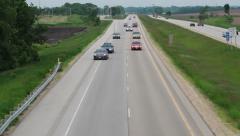 Traffic Stop on Freeway Stock Footage